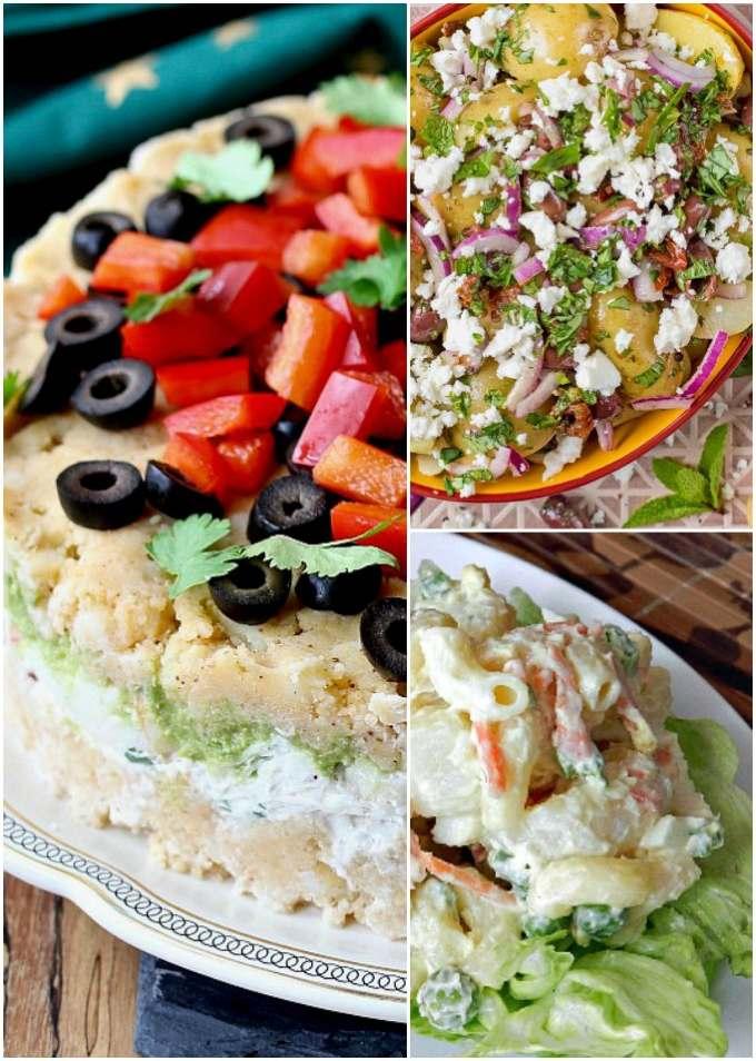 Collage of International Potato Salads (version 2)