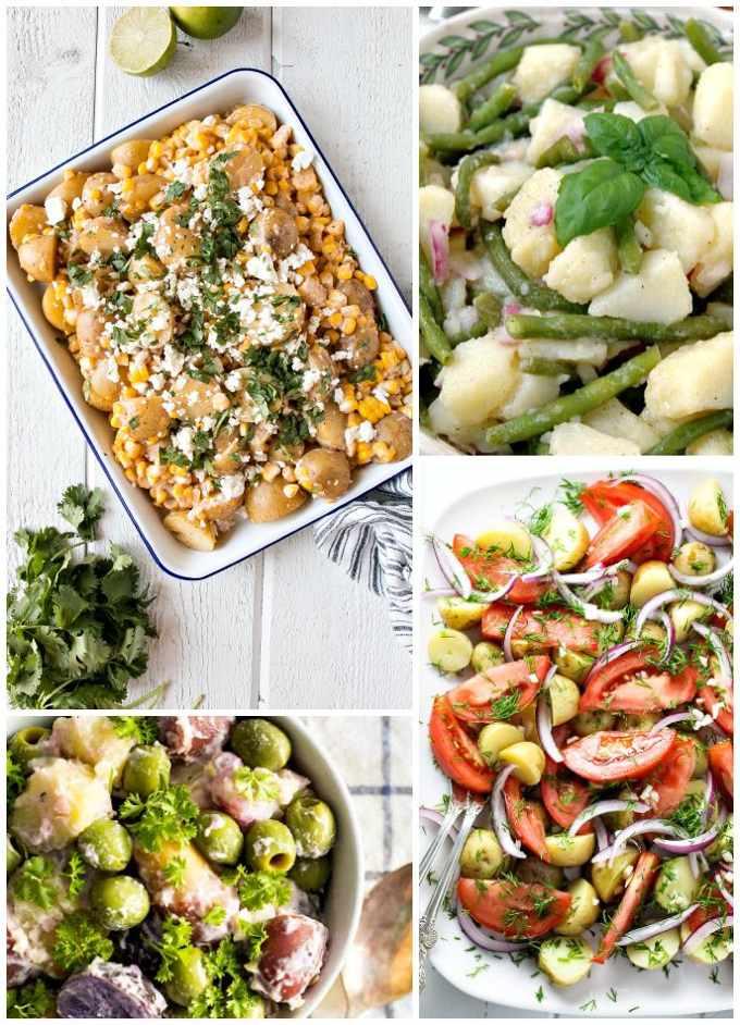 Potato and Veggies Collage Image