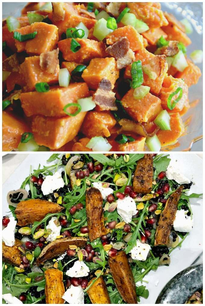 Sweet Potato Salad Collage