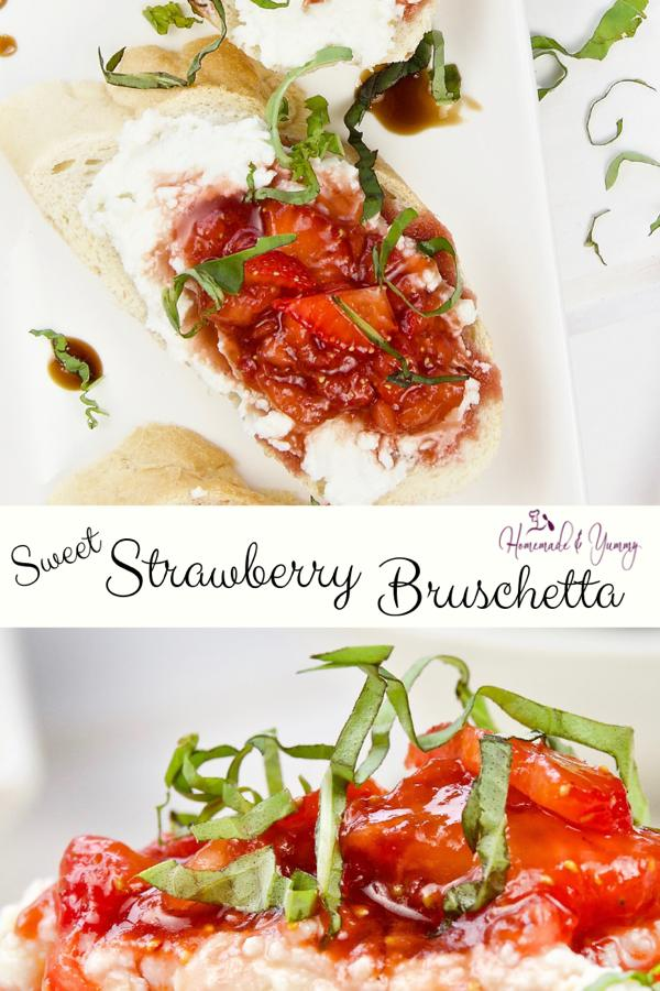 Sweet Strawberry Bruschetta Pin Image
