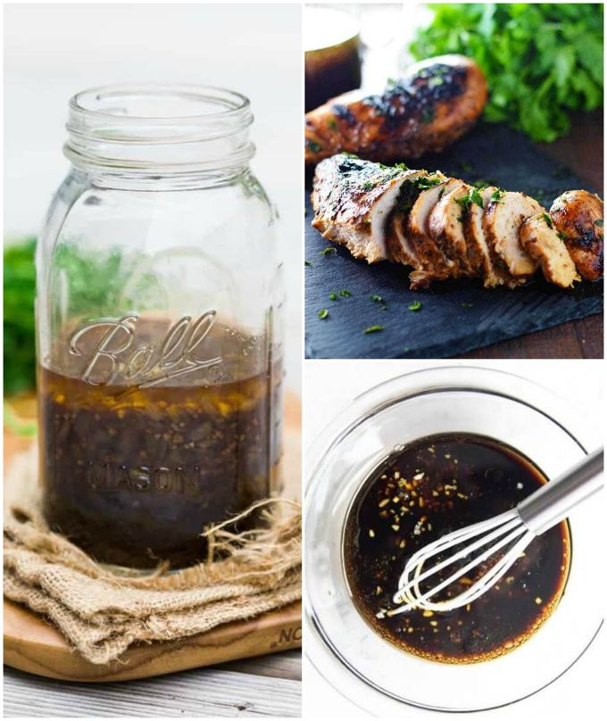 Marinade Collage for Recipe Roundup
