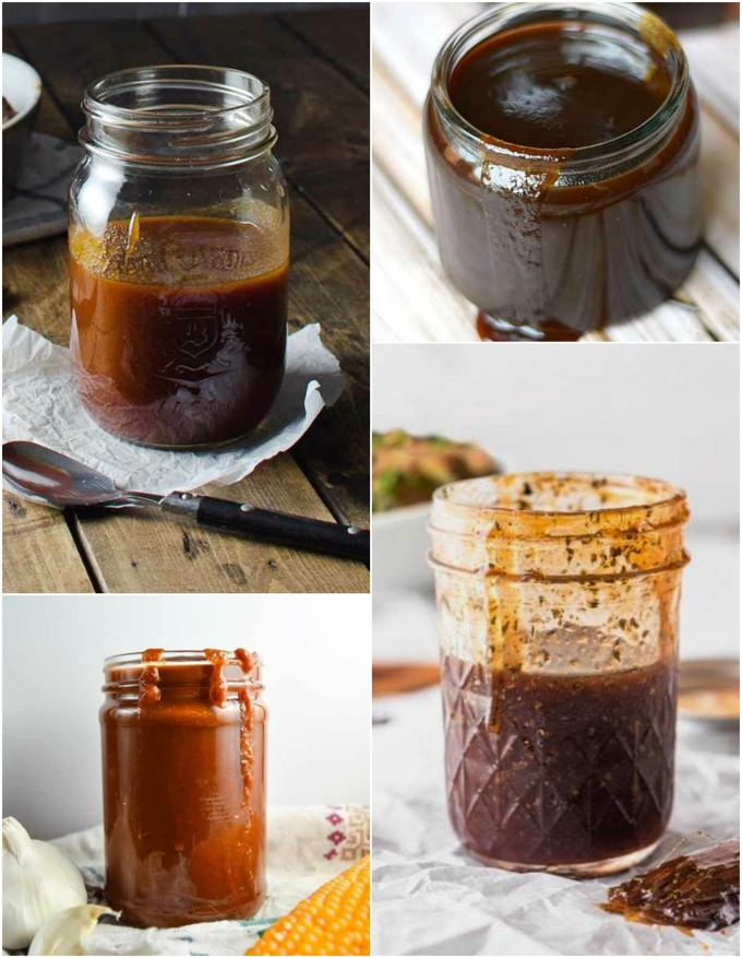 BBQ Sauce Collage for Recipe Roundup