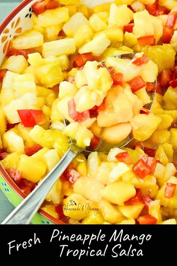 Fresh Pineapple Mango Tropical Salsa Pin Image 2