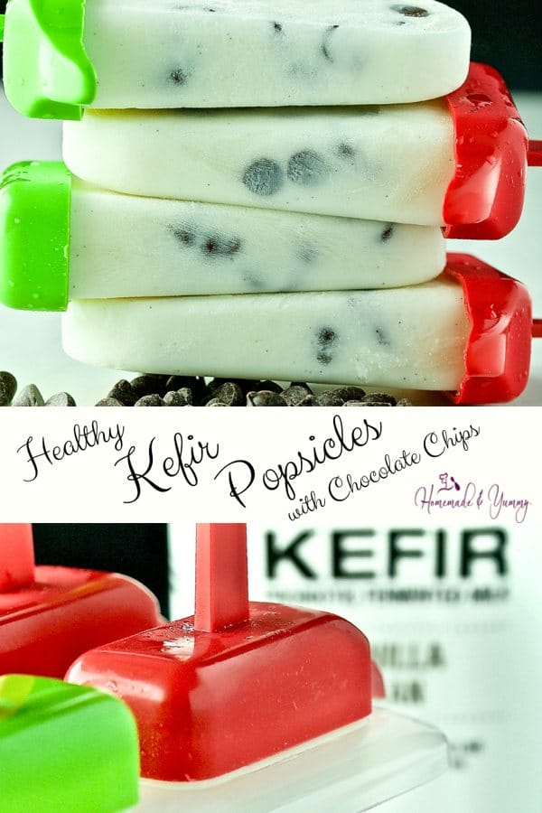 Healthy Kefir Popsicles Pin Image