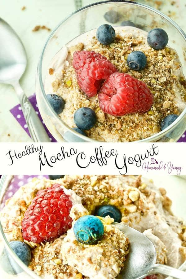Healthy Mocha Coffee Yogurt Pin Image