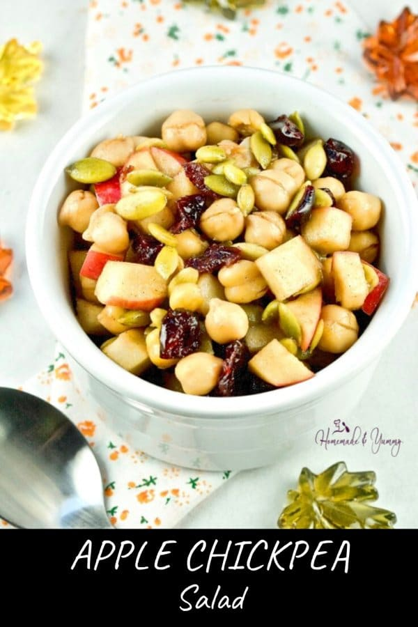 Apple Chickpea Salad Pin Image (1 of 2)