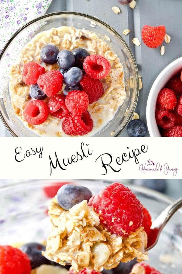 Easy Muesli Recipe Pin Image (1 of 2)
