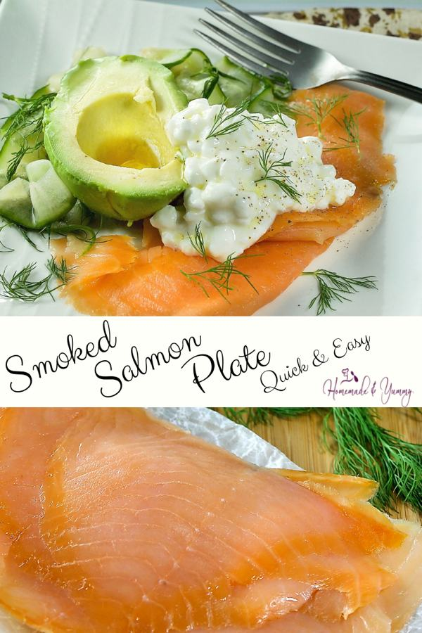 Easy Smoked Salmon Plate Pin Image (1 of 2)