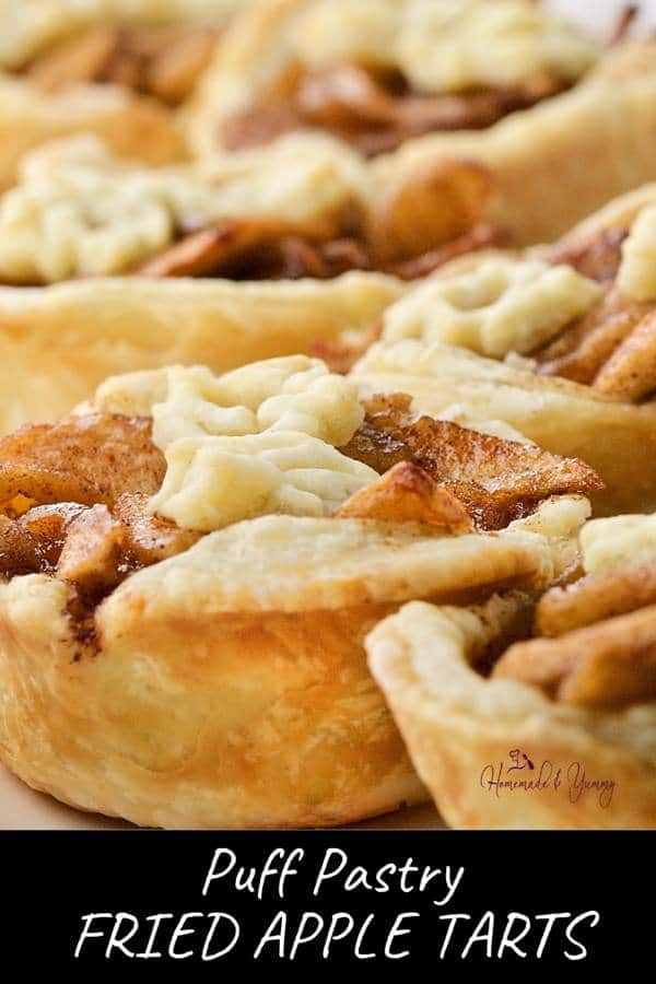Puff Pastry Fried Apple Tarts Pin Image (2 of 2)
