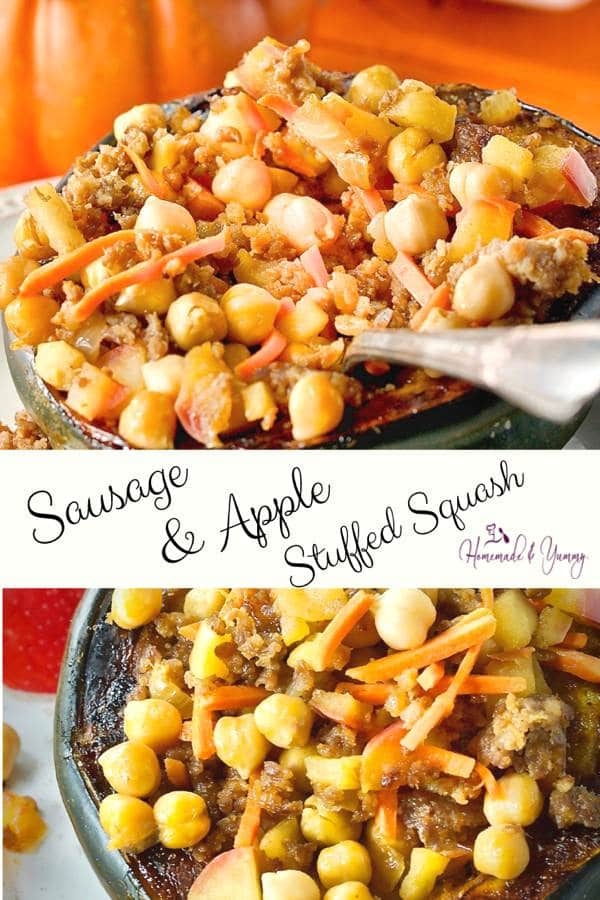 Sausage & Apple Stuffed Squash Pin Image (2 of 2)