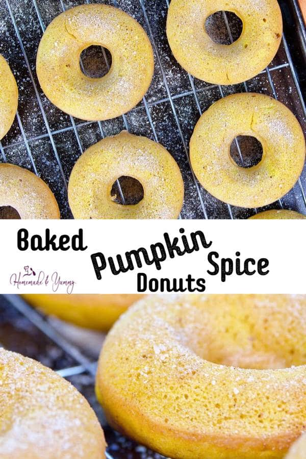Baked Pumpkin Spice Donuts Pin Image (1 of 2)