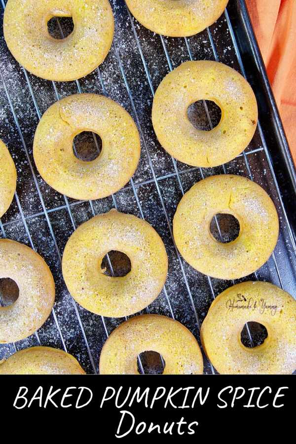 Baked Pumpkin Spice Donuts Pin Image (2 of 2)