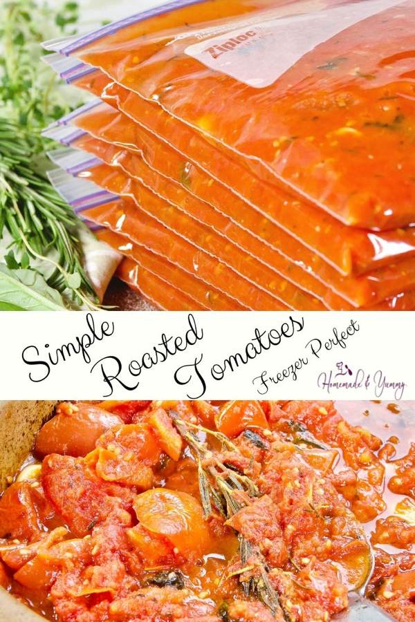 Simple Roasted Tomatoes Pin Image (1 of 2)