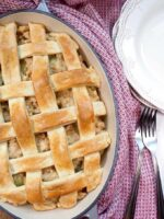 Savoury Turkey Veronique Rustic Meat Pie ready to eat