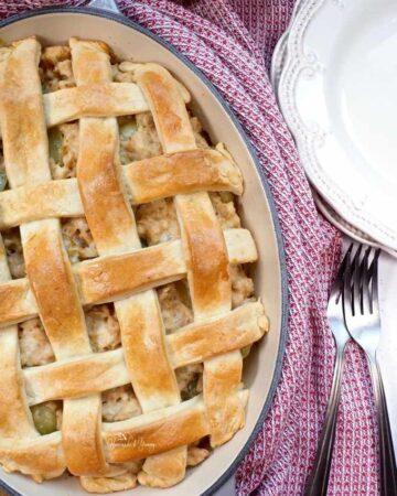 Savoury Turkey Veronique Rustic Meat Pie ready to eat