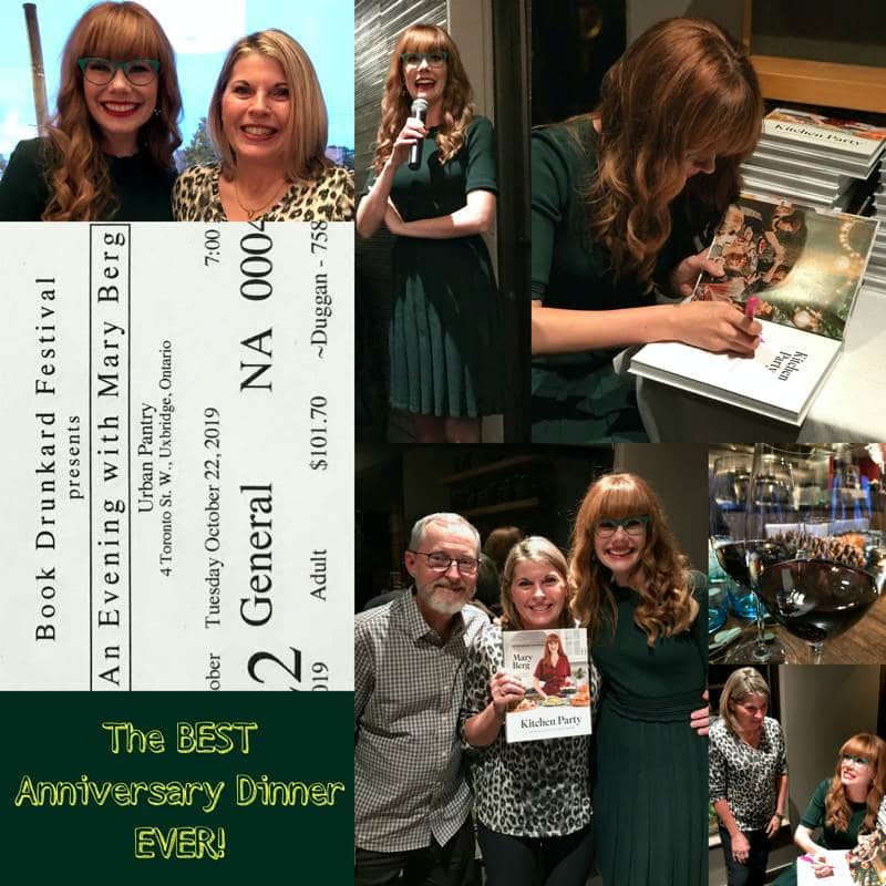 Collage of pictures from the Mary Berg book signing.