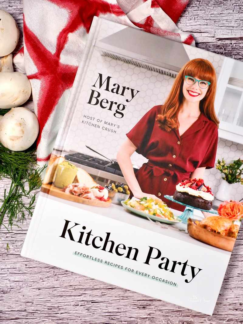 A close up of Kitchen Party cookbook by Mary Berg