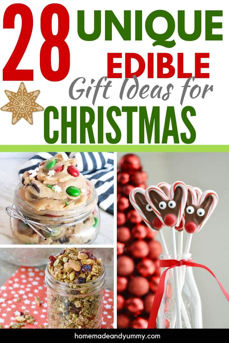 28 Unique Edible Gift Ideas For Christmas Pin Image