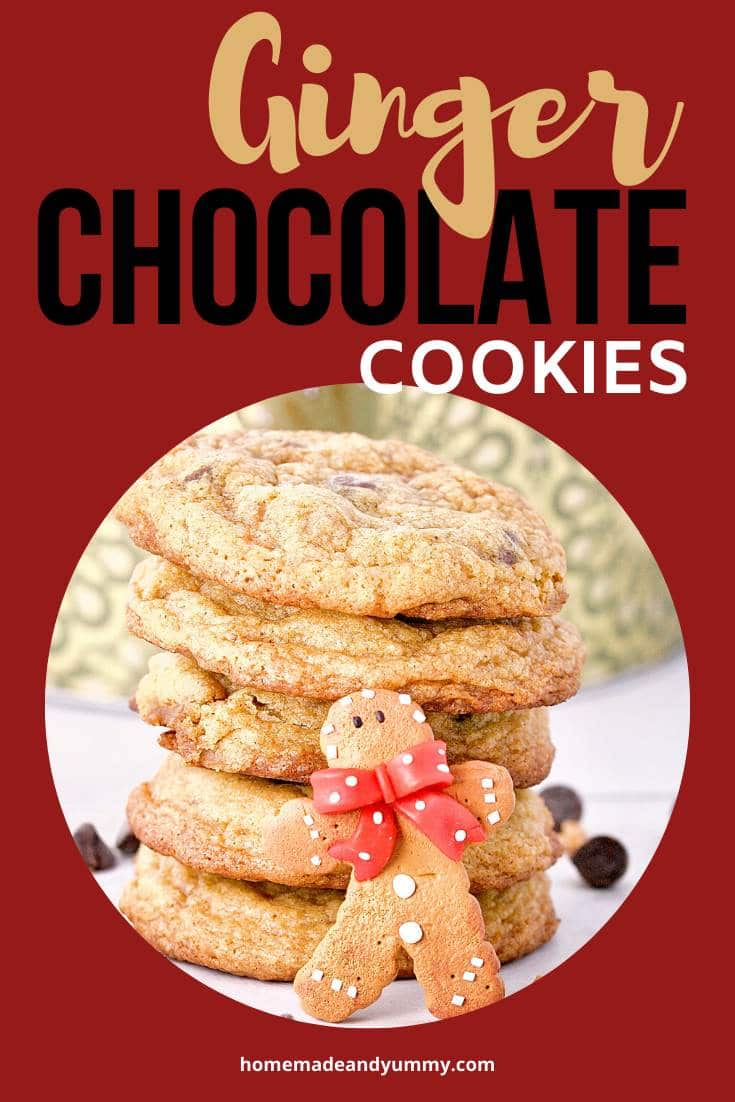 Gingerbread Chocolate Chip Cookies Pin Image