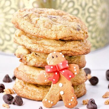 Chewy Gingerbread Chocolate Cookies for Santa