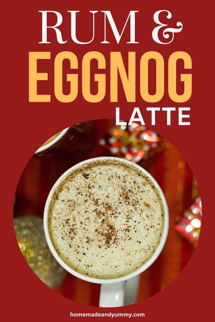 Rum & Eggnog Latte Pin Image
