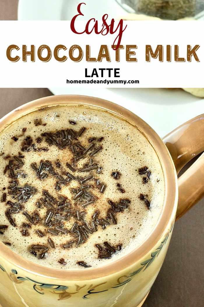 Chocolate Milk Latte Pin Image