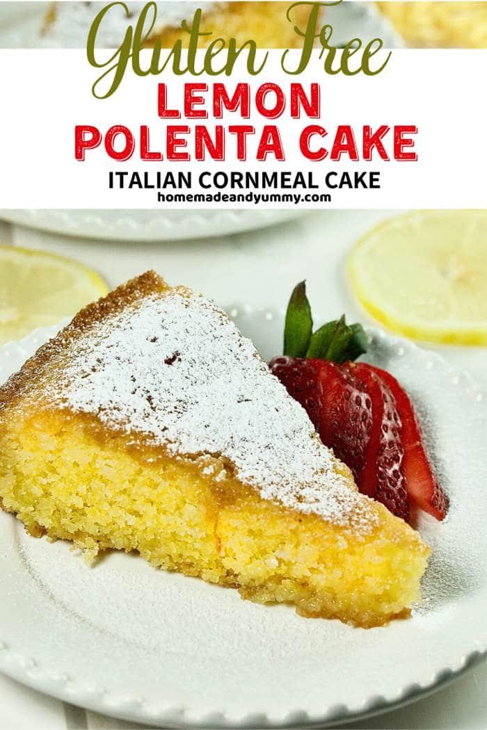 Lemon Polenta Cake Pin Image