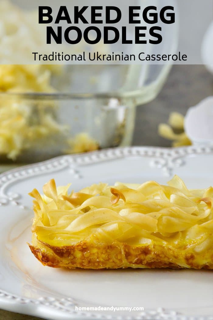 Bakeed Egg Noodle Casserole Pin Image