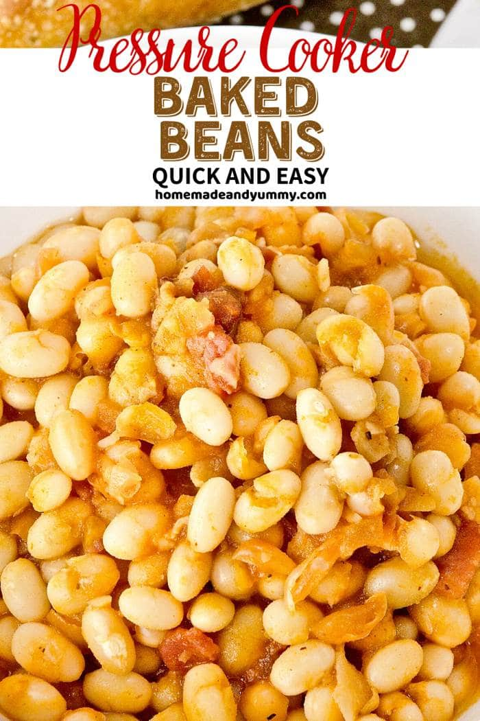 Pressure Cooker Baked Beans Pin Image