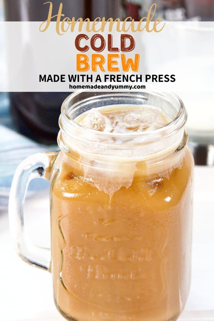 French Press Cold Brew Pin Image