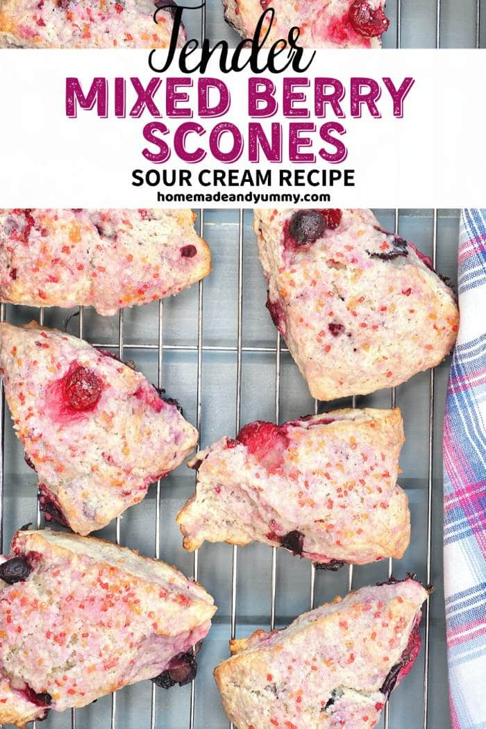 Mixed Berry Scones Pin Image