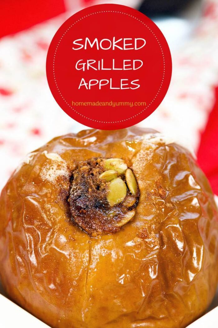 Smoked Grilled Apples Pin Image