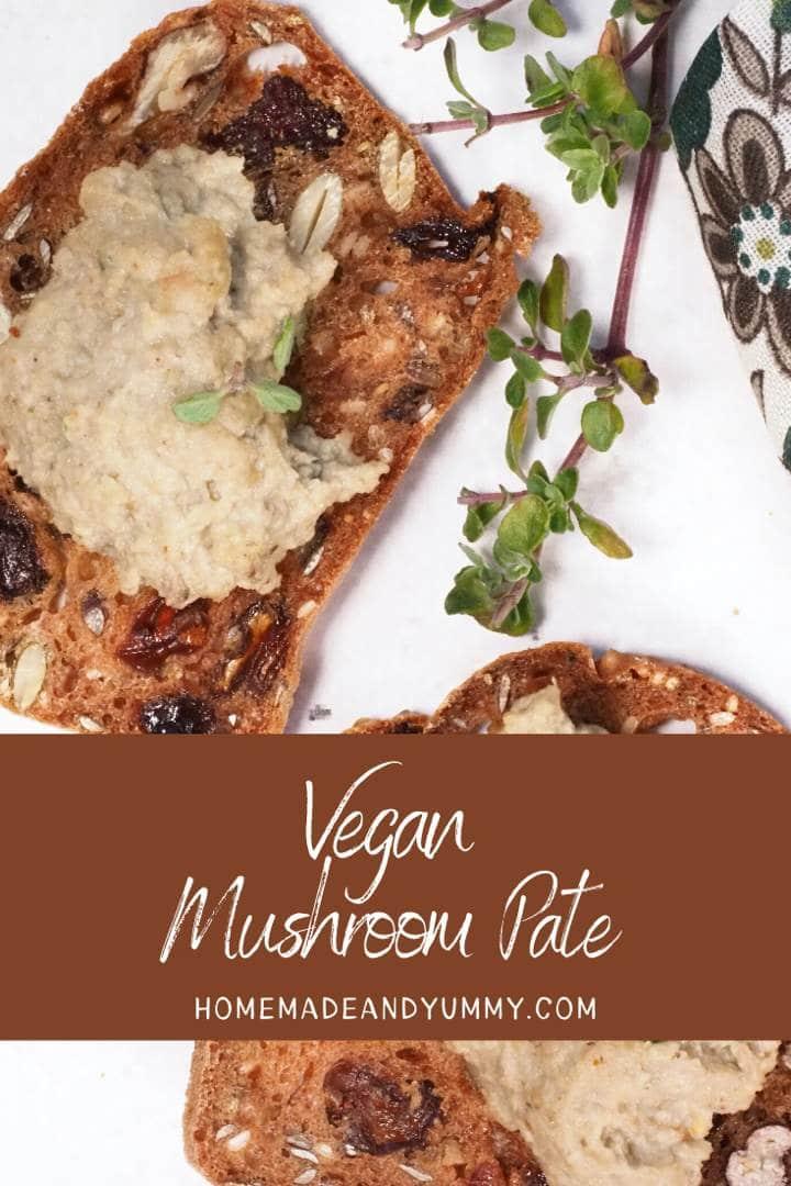 Vegan Mushroom Pate Pin Image