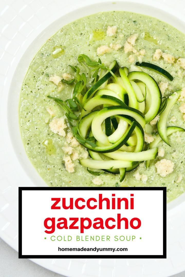 Zucchini Noodle Gazpacho Pin Image
