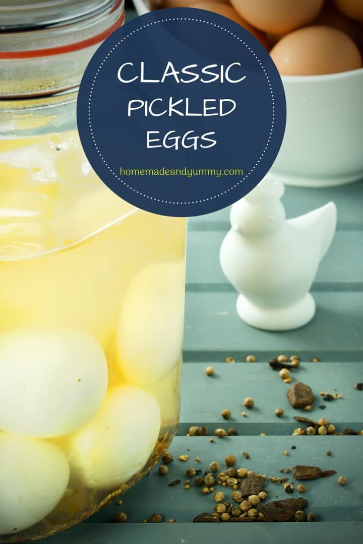 Classic Pickled Eggs Pin Image