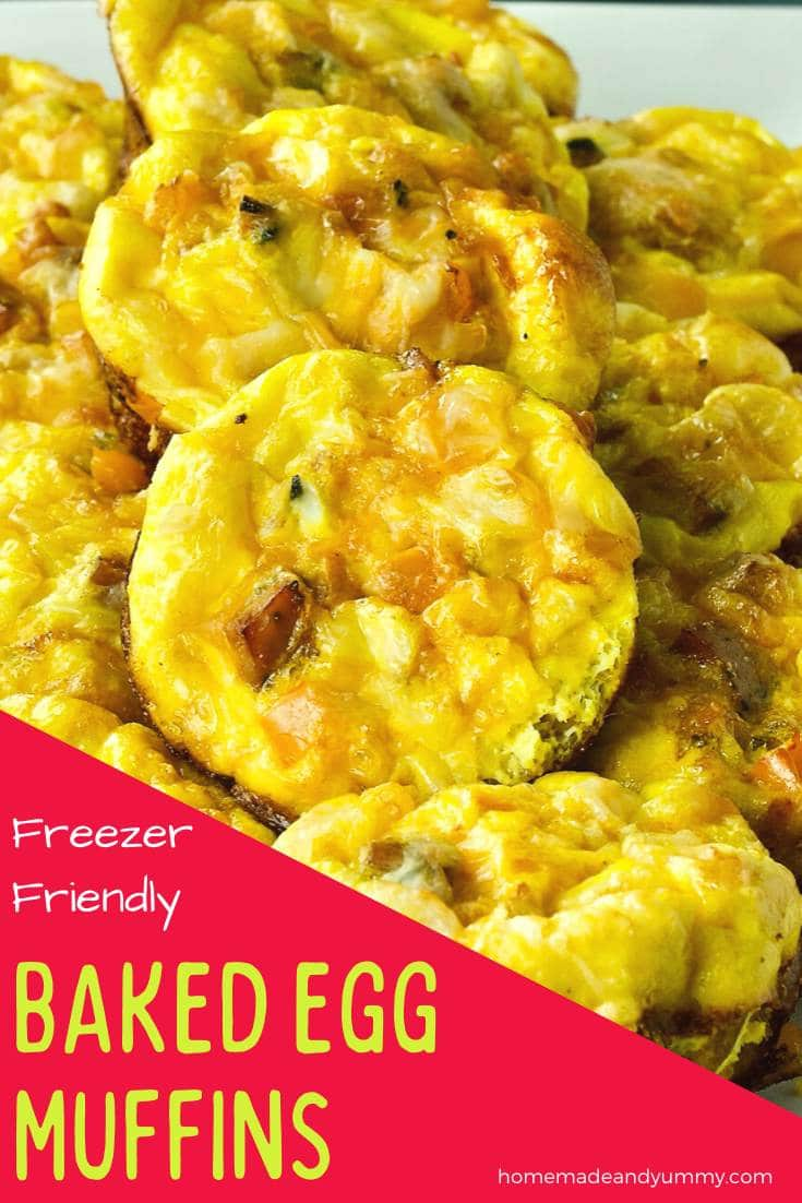 Baked Egg Muffins Pin Image