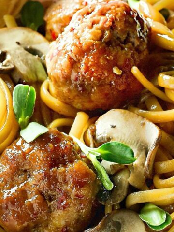 Chinese Spaghetti and Meatballs Featured Image