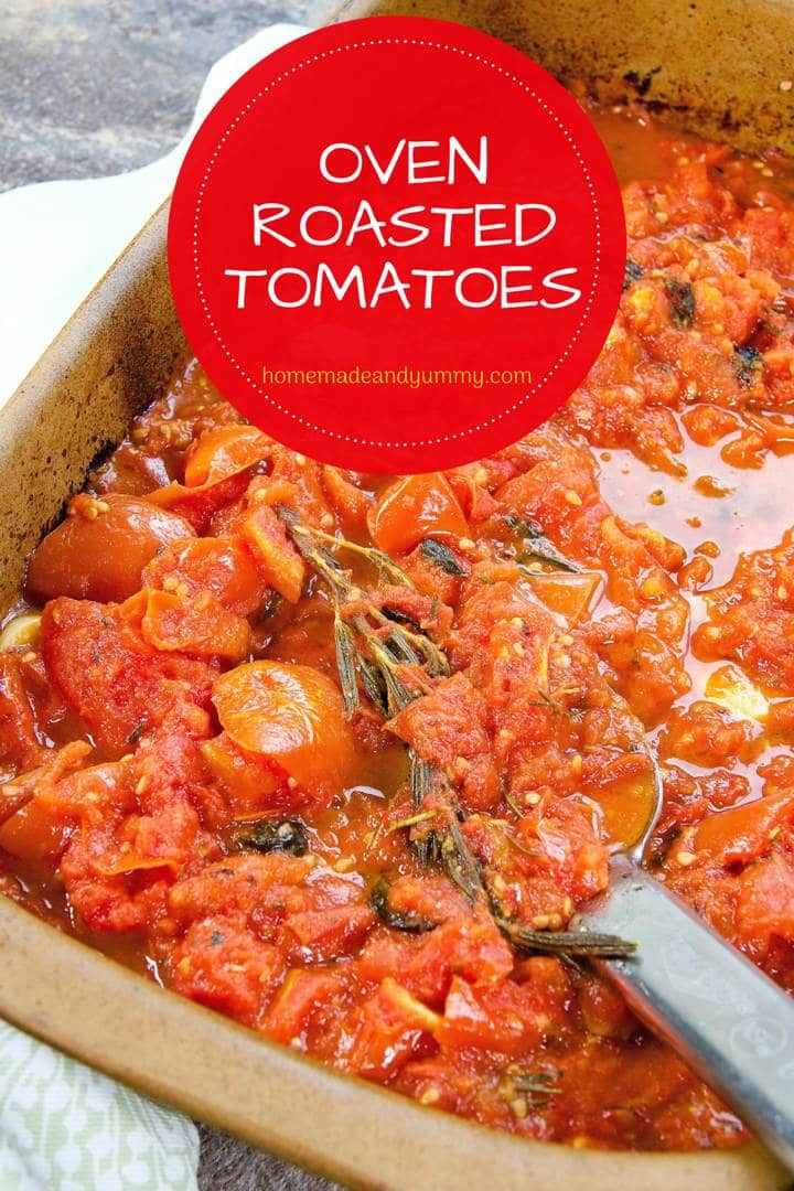Simple Roasted Tomatoes Pin