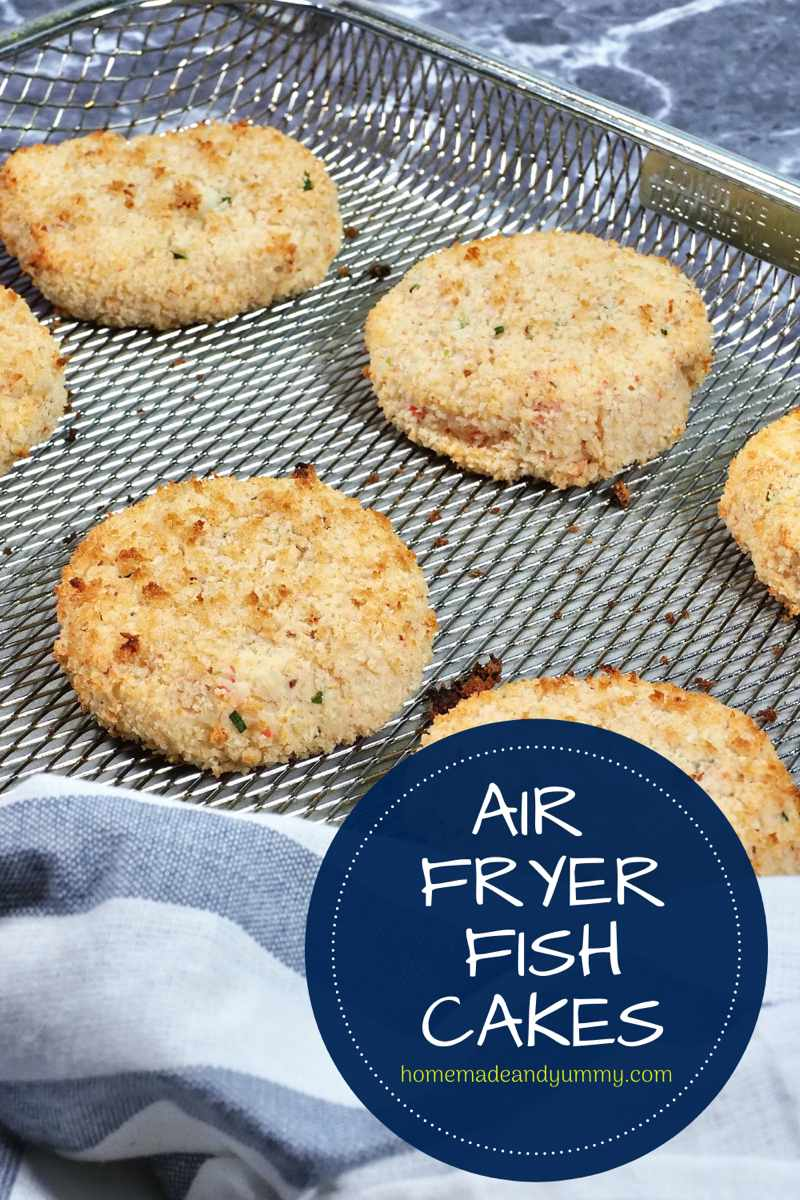Air Fryer Fish Cakes Pin Image