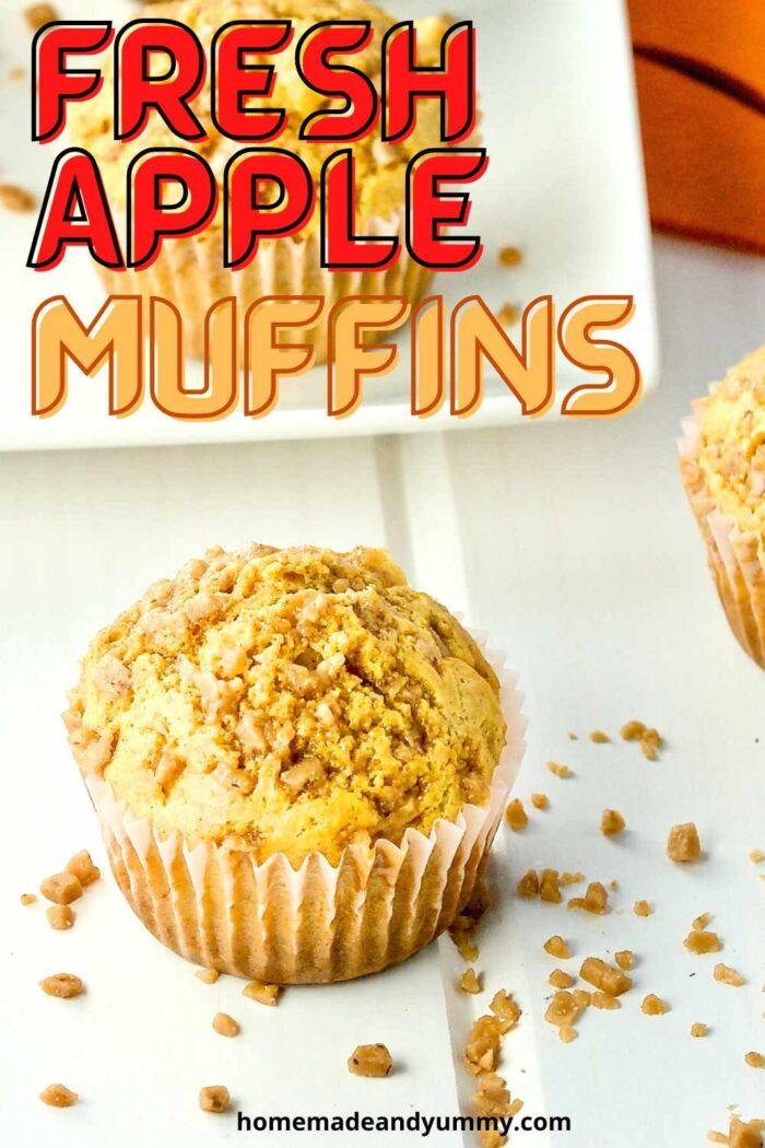 Fresh Apple Muffins Pin