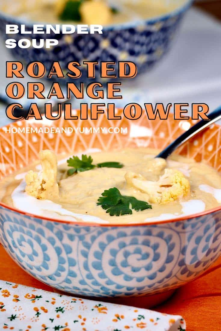Orange Cauliflower Soup Pin Image