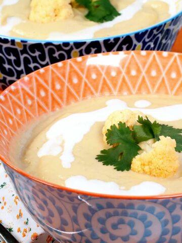Roasted Orange Cauliflower Soup Featured Image