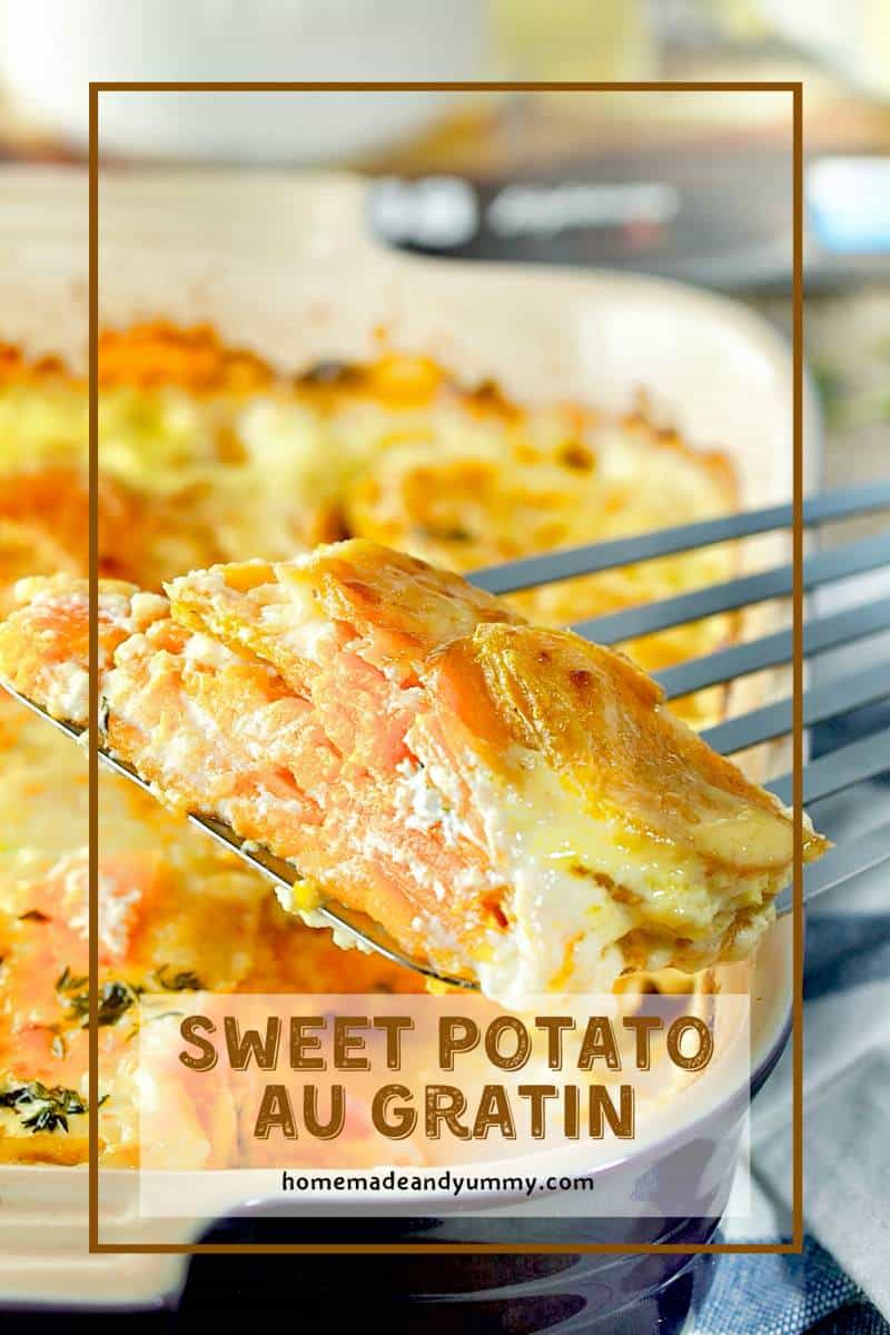 Sweet Potato Au Gratin Pin Image