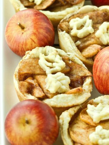 Puff Pastry Fried Apple Tarts Featured Image