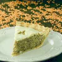 Red Lentil Tourtiere Pie Featured Image