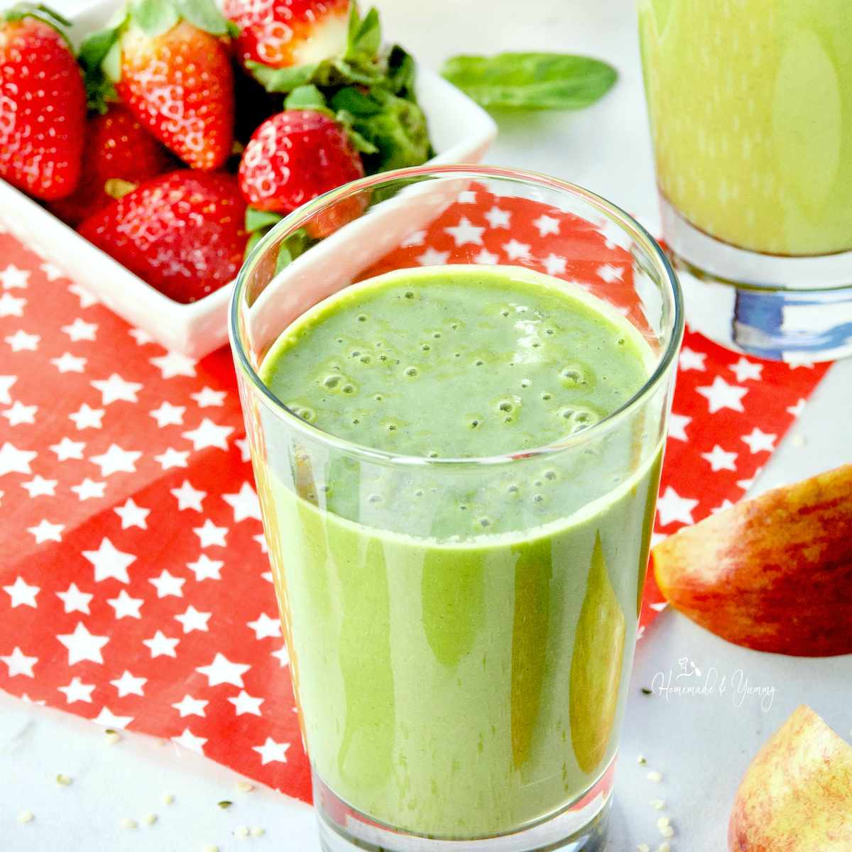 Healthy Hemp Heart Clean Green Smoothie Homemade Yummy
