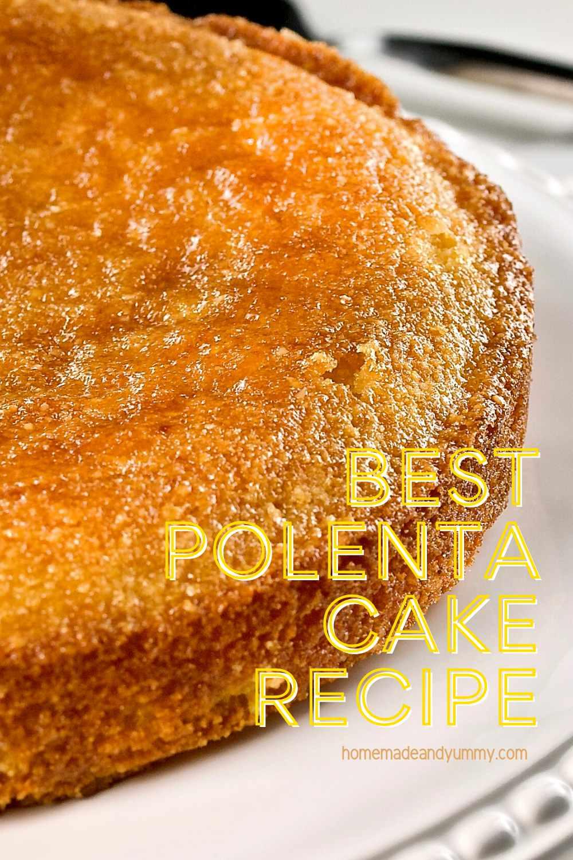 Best Polenta Cake Pin Image