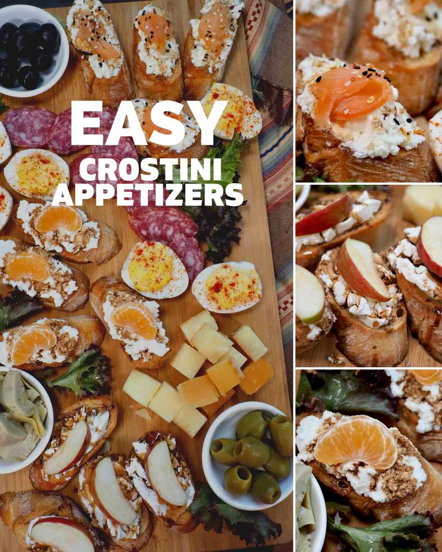 Crostini Appetizer Platter Pin