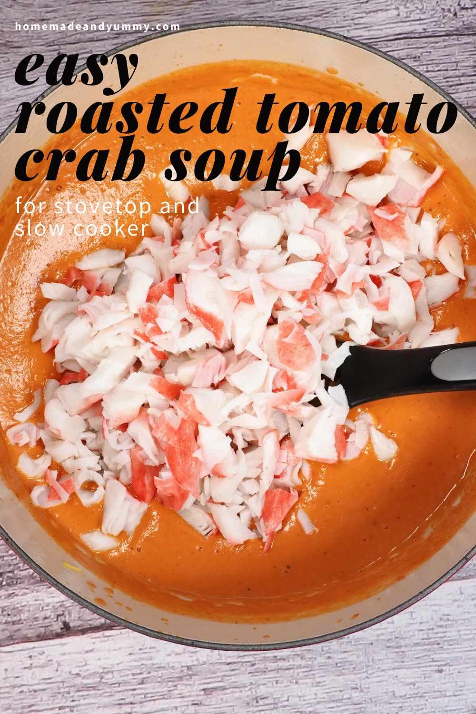 Tomato Crab Soup Pin.