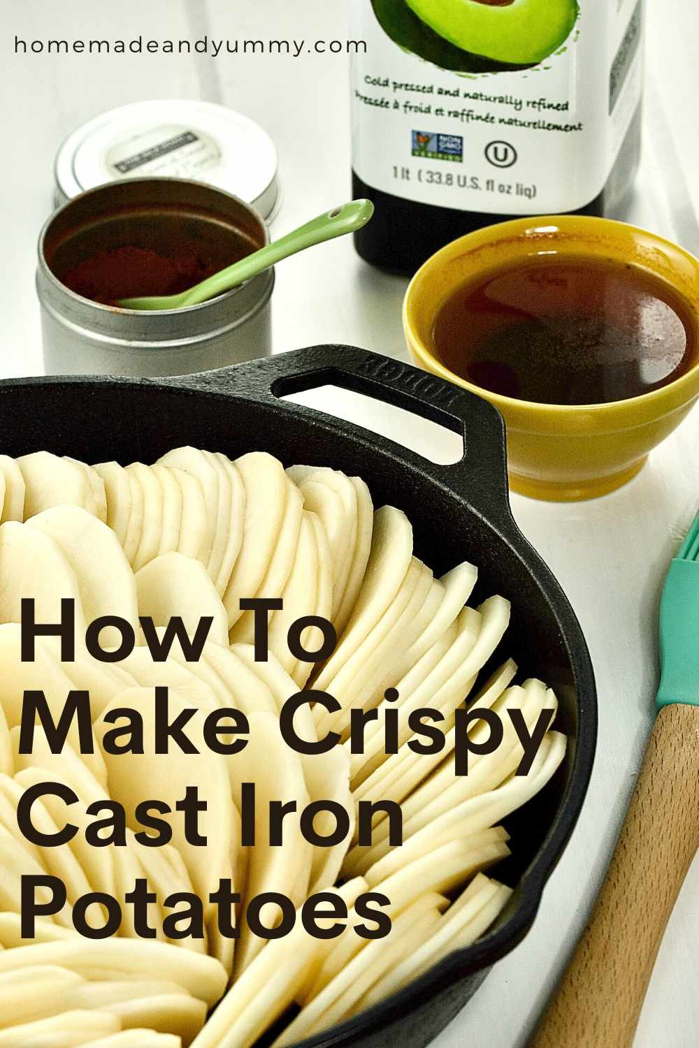 Crispy Cast Iron Potatoes Pin